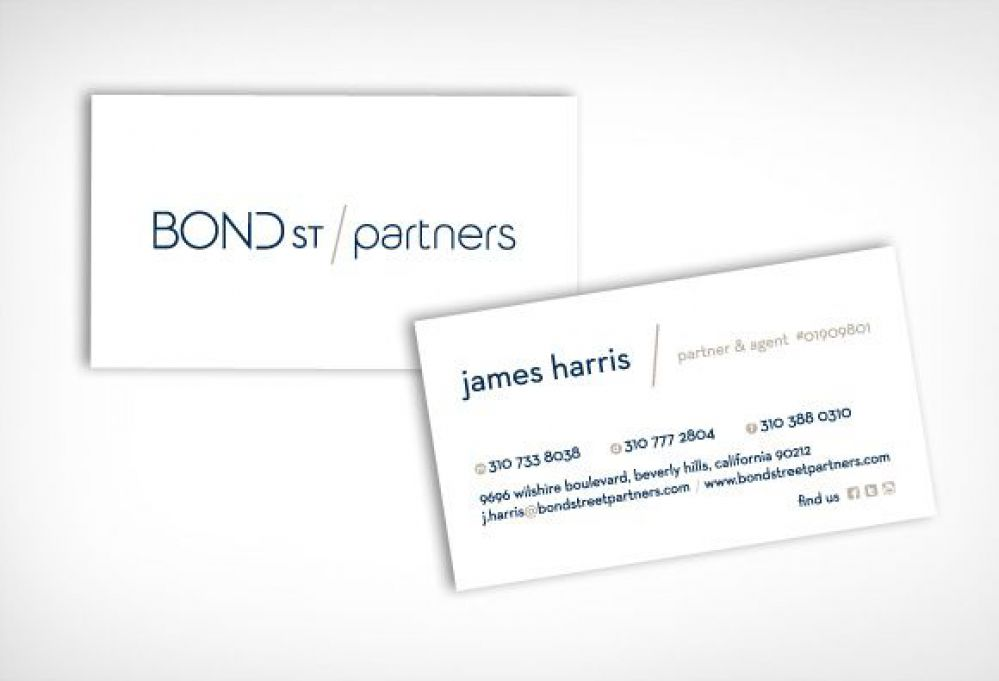 Bond St. Partners - Real Estate Business Cards