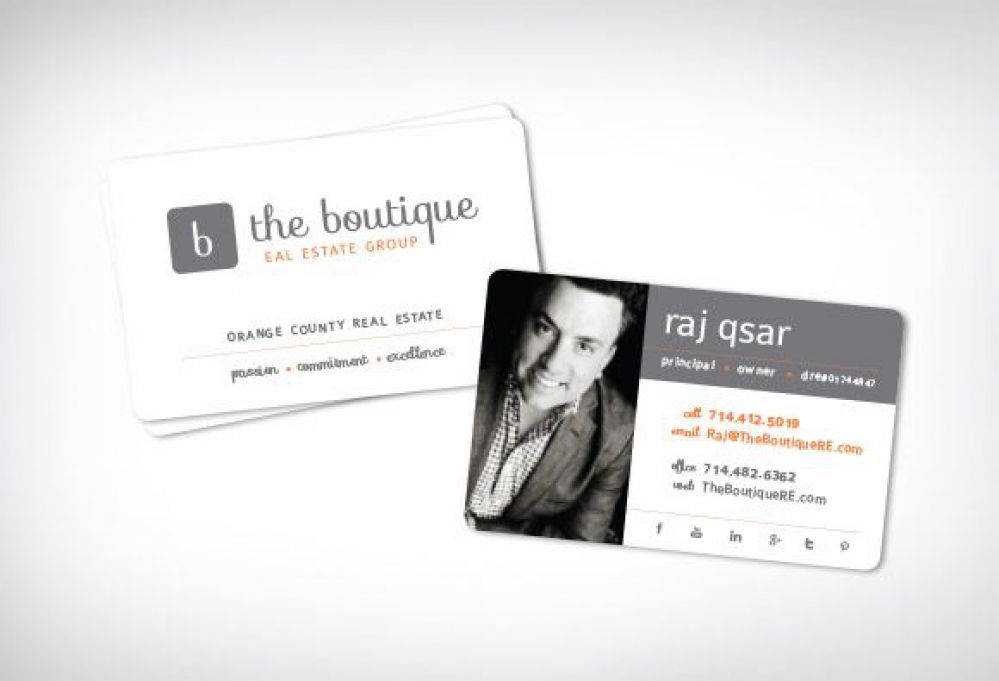 28 real estate business cards we love the boutique real estate group real estate business cards reheart Choice Image