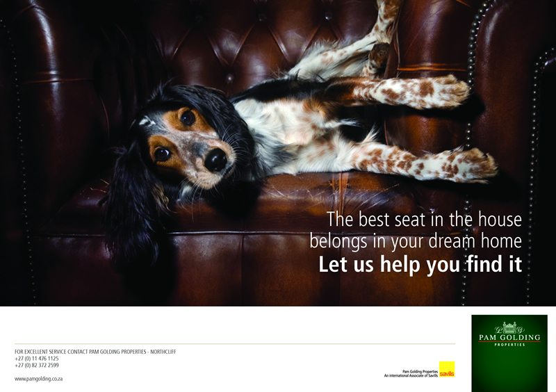 real estate ads article: Pam Golding best seat ad