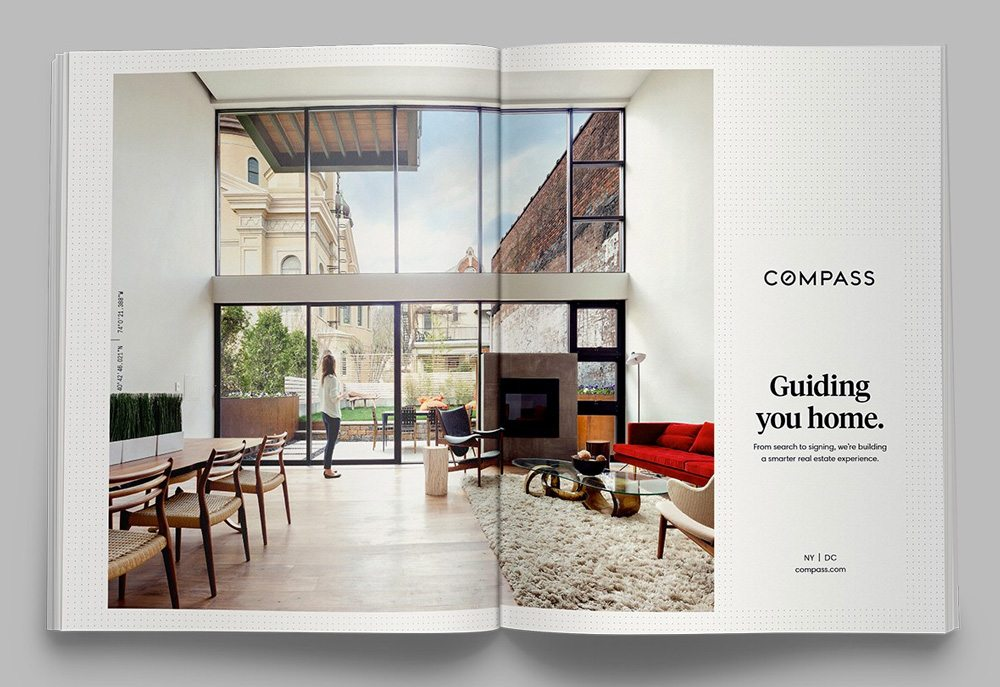 real estate ads article: Compass Guiding You Home ad