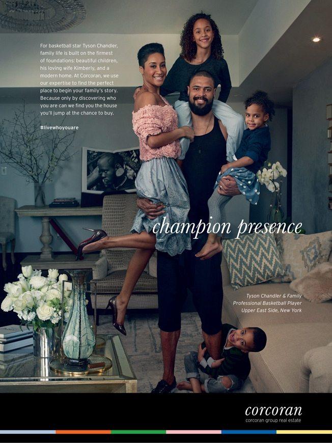 real estate ads article: Corcoran Champion Presence magazine ad