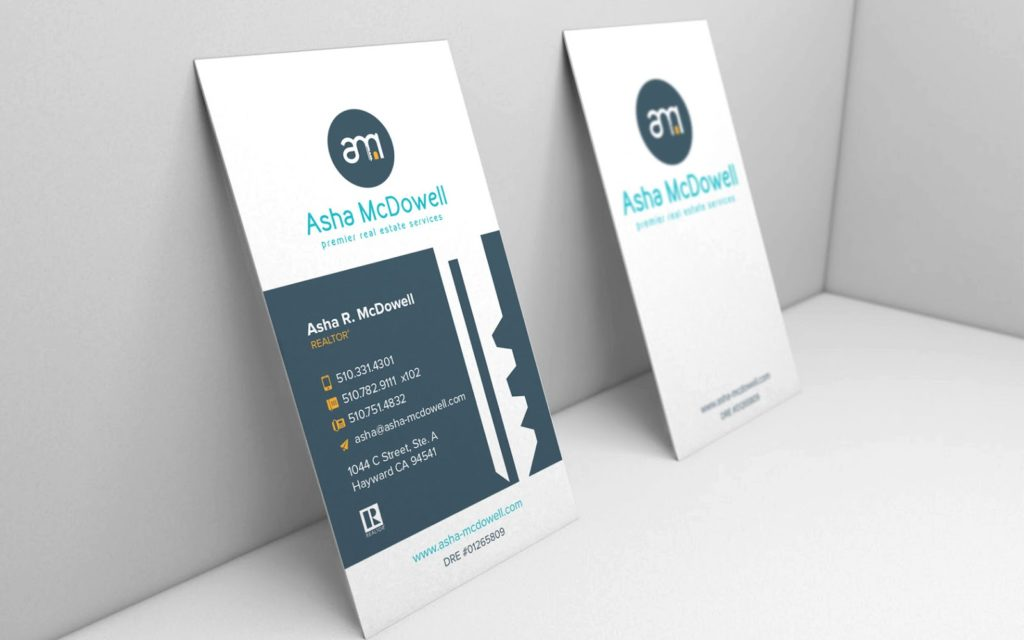 Asha McDowell - Real Estate Business Cards