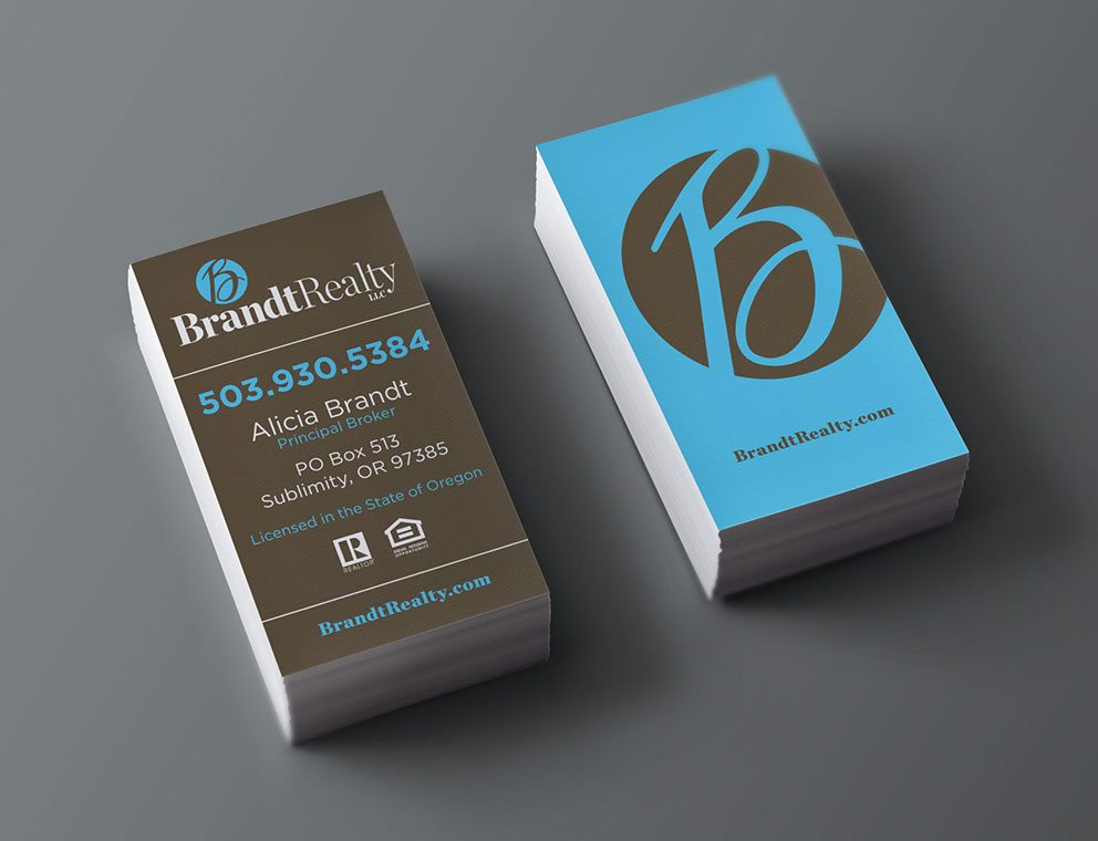 28 real estate business cards we love brandt realty real estate business cards reheart Choice Image