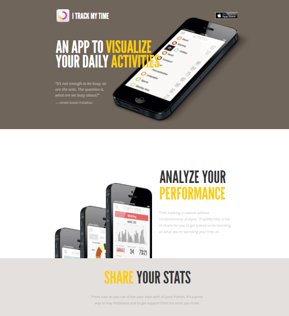 one page website examples