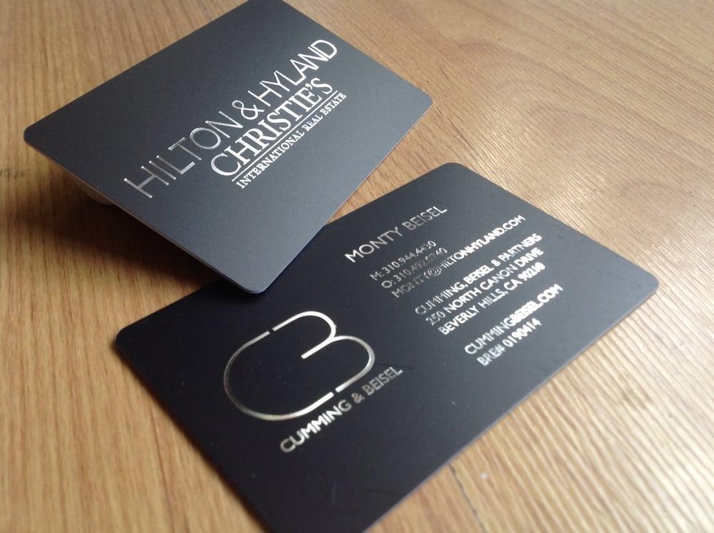 Hilton & Hyland Christie's - Real Estate Business Cards