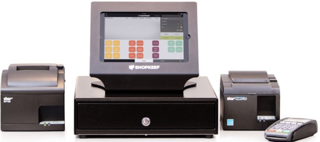 ShopKeep POS System checkout register