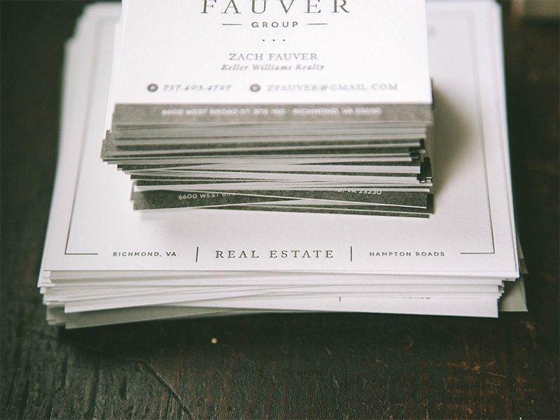 The Fauver Group at Keller Williams - Real Estate Business Cards