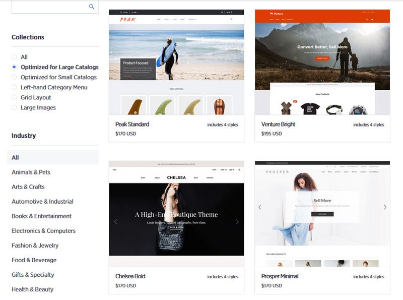 BigCommerce theme options