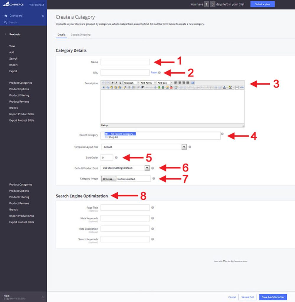 BigCommerce add products