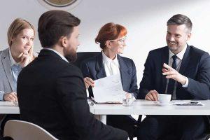businessman having a discussion