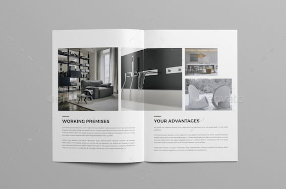 Top 29 real estate brochure templates to impress your clients for Interior design brochures