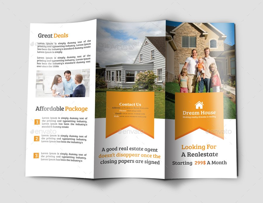 Top 29 real estate brochure templates to impress your clients for Real estate brochures templates free