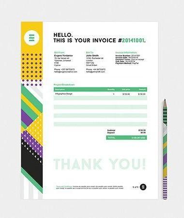 Graphic Invoice Example