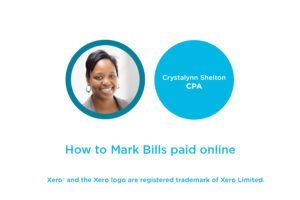 Lesson 4.3: How to Mark Bills as Paid in Xero