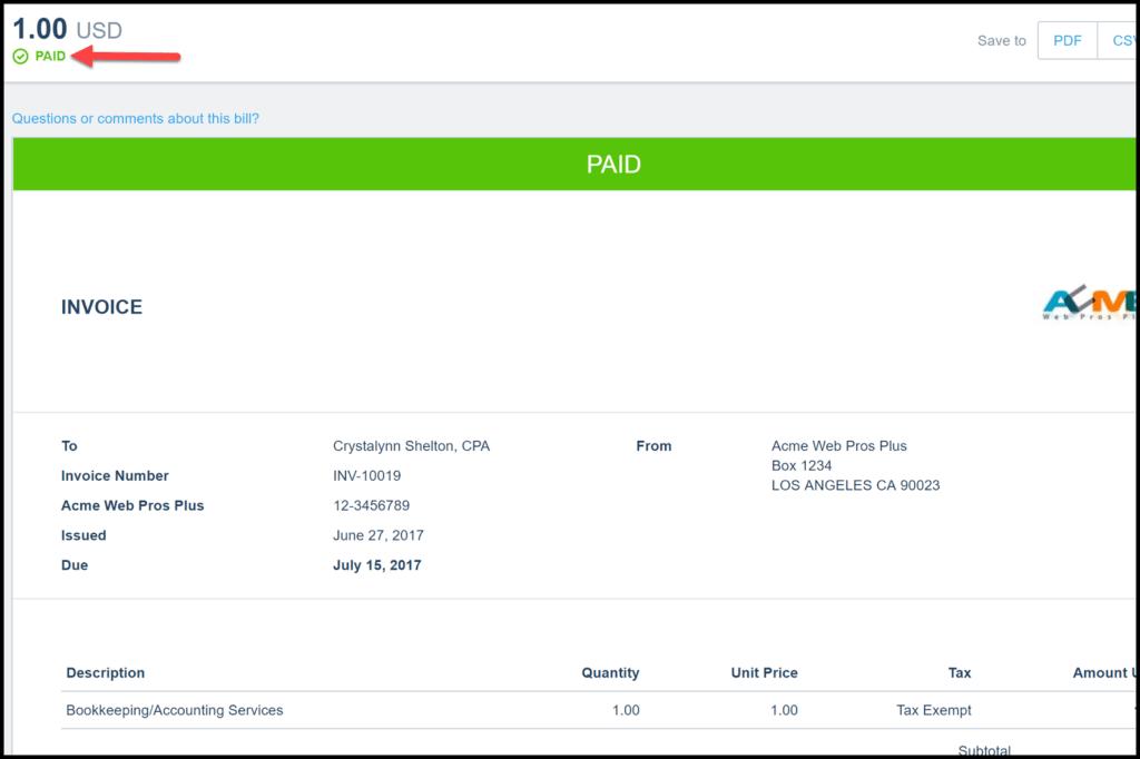 online customer payments in xero
