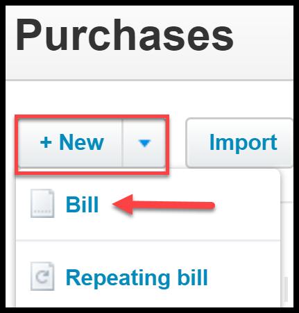 create a bill in xero