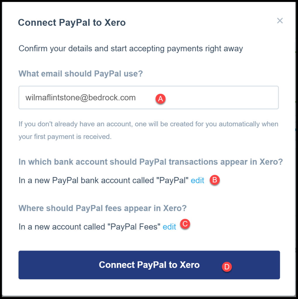 online customer payments in xero