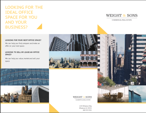 Brochure Templates Top Free And Paid Options - Commercial real estate brochure template