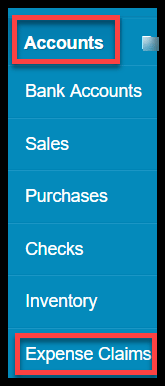 create expense claims in xero