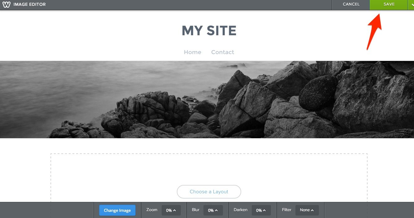 Change an Existing Image in Weebly