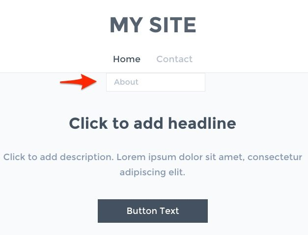 Weebly Editor add a headline