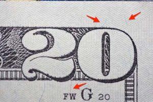 Screenshot of Red and Blue Threads 20 Dollar Bill