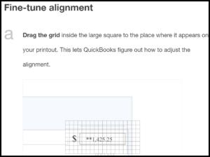 Align Text to Print QuickBooks Checks