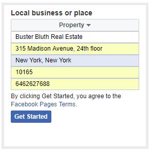 screenshot -add business info