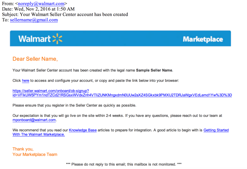 How to sell on Walmart marketplace -- application approval