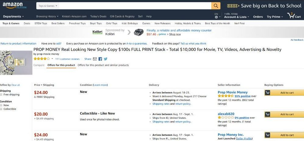 How to sell on Amazon - competition