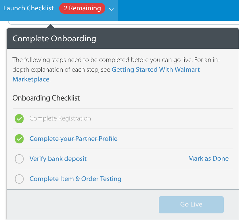 How to sell on Walmart marketplace -- setup wizard