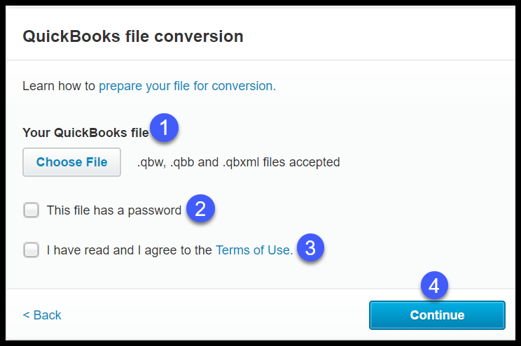 Convert QuickBooks to Xero Process