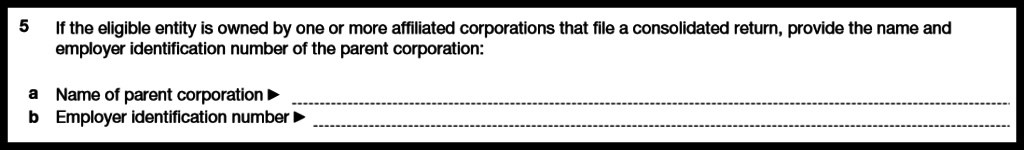 Form 8832 Affiliated Companies