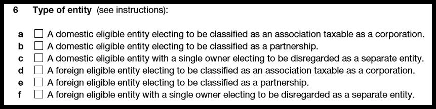 Form 8832 Entity Type