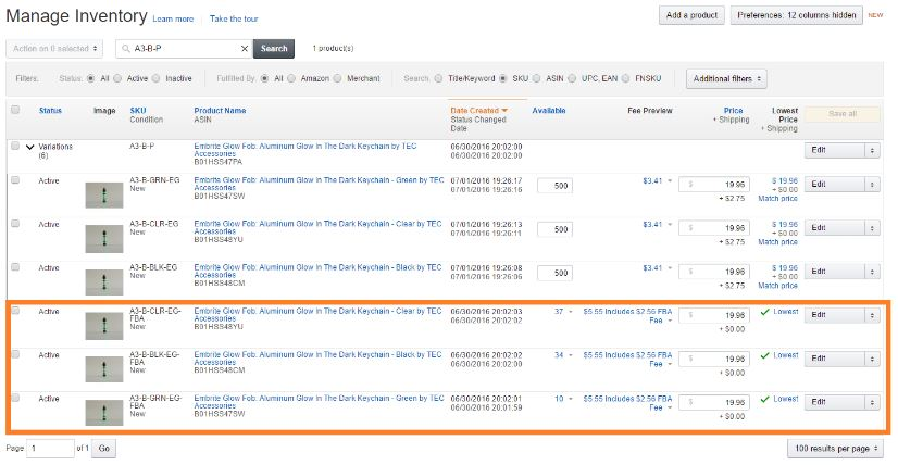 How to sell on Amazon - manage inventory
