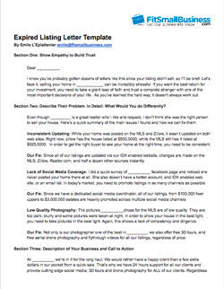 expired listing letter template download