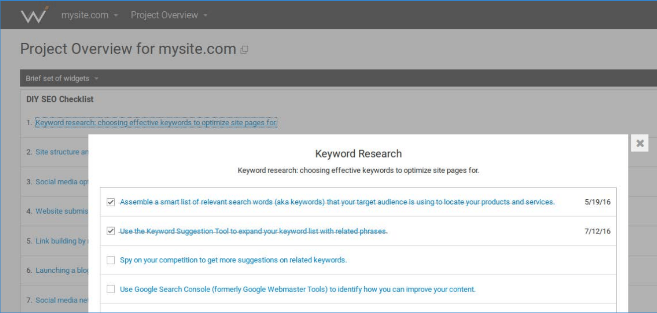 Web CEO's keyword research, analysis, and suggestion tool helps you choose the best performing words and phrases to include on your website