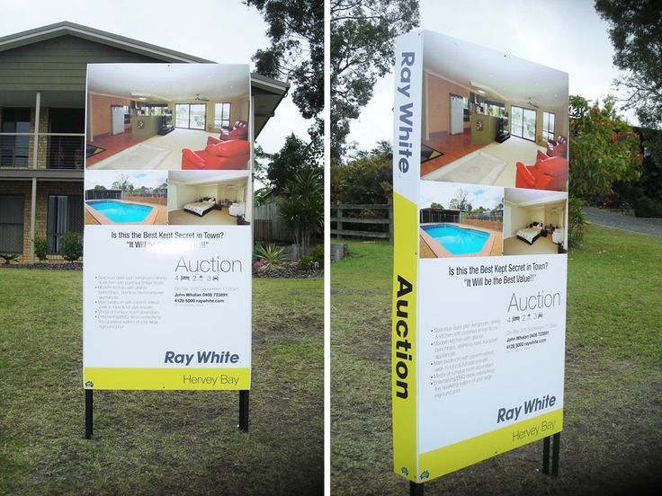 Ray White, Hervey Bay Australia - Real Estate Signs