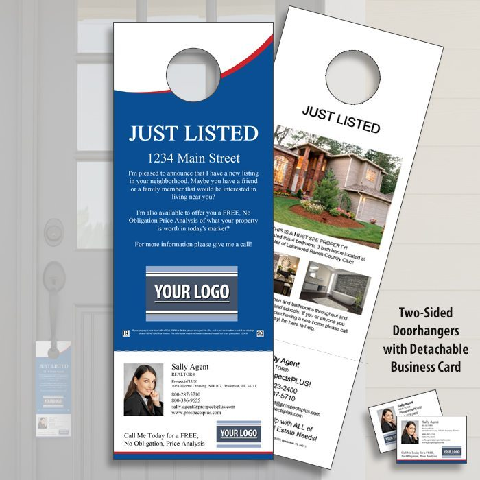 Just Listed - Real Estate Door Hangers
