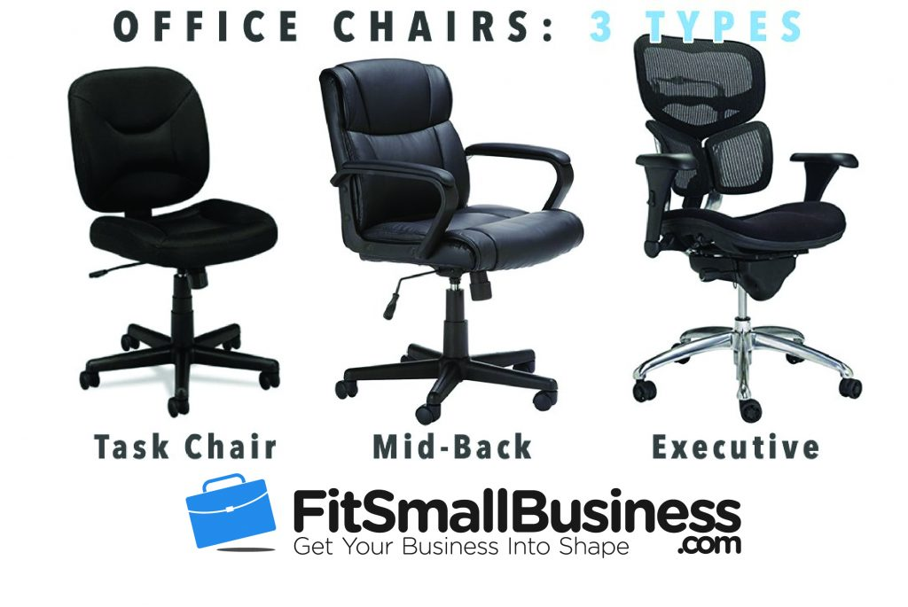 There Are Three Main Types Of Office Chairs You Can Choose From:
