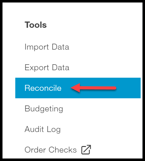 navigate to bank reconciliation in quickbooks online