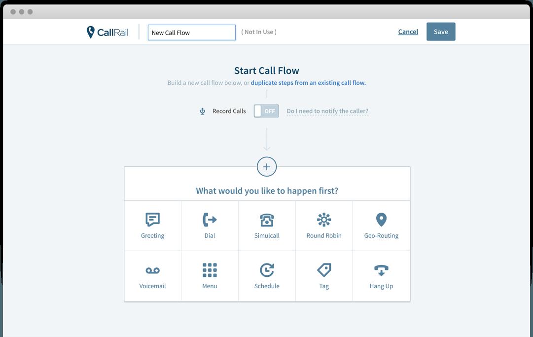 Call flows in CallRail