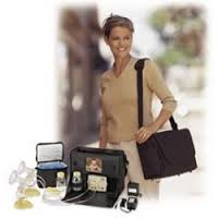 Image of new mom bringing breast pump equipment to work