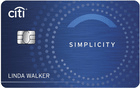 Citi Simplicity Card best personal credit cards