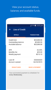 OnDeck mobile app business line of credit