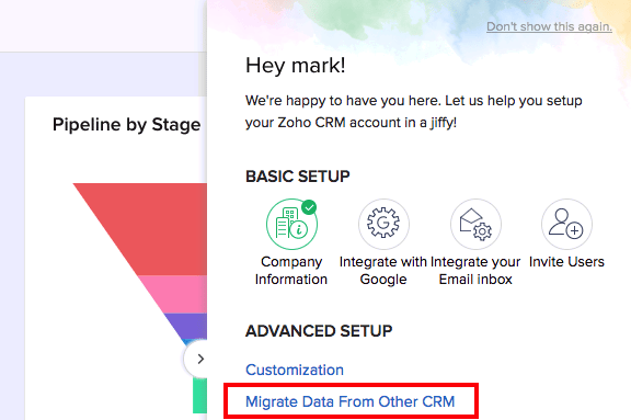 How to Set Up Zoho CRM: Migrate Data