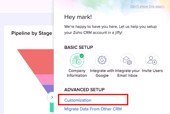 How to Set Up Zoho CRM: Customization
