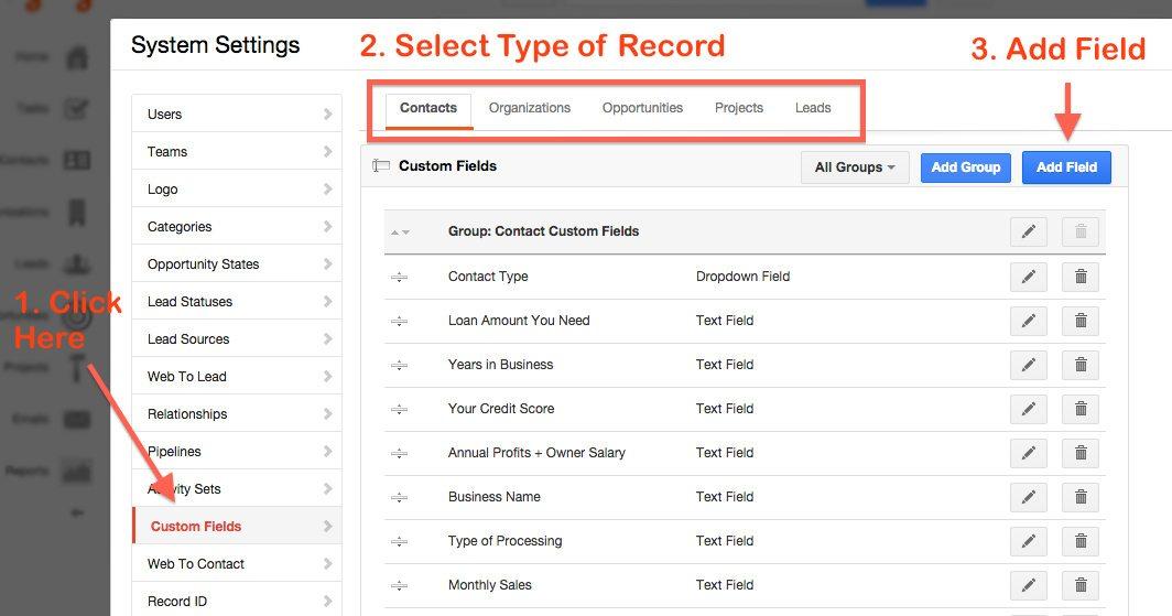 How to use Insightly custom fields