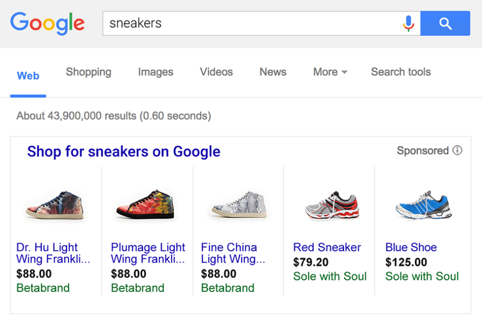 rise of Google shopping