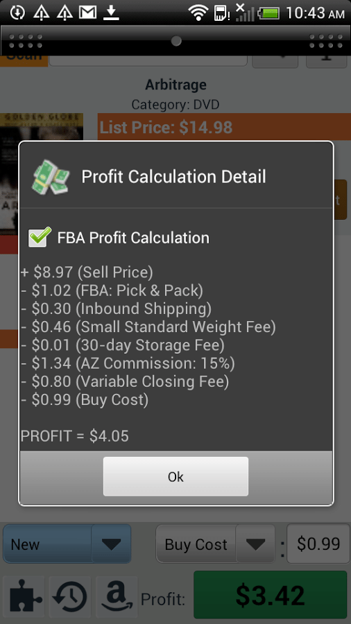 Amazon seller app Profit Bandit screenshot 1
